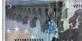 El nuevo billete de cinco euros