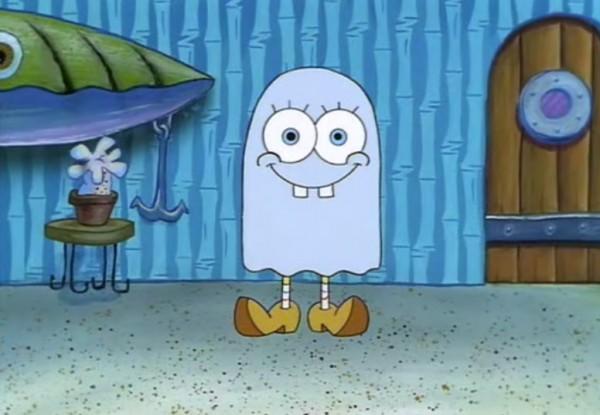 Bob esponja también se disfraza por Halloween