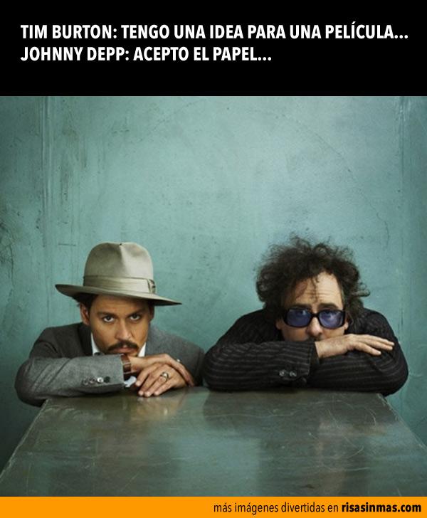 Tim Burton y Johnny Depp, buenos amigos