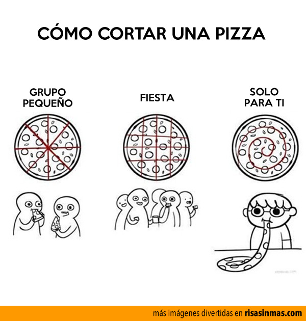 Cómo cortar una pizza
