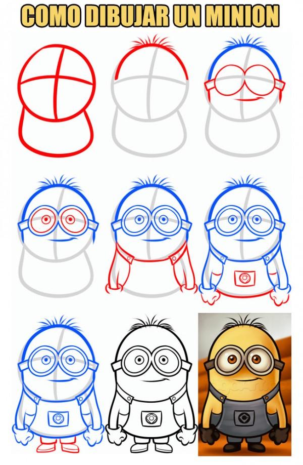 Como dibujar un Minion
