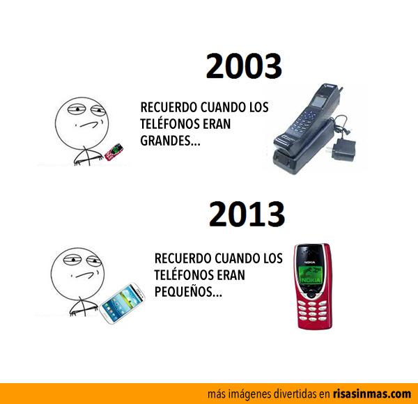 Recuerdo cuando los teléfonos eran grandes