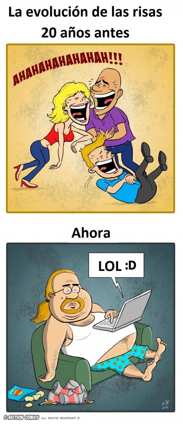 Evolución de las risas