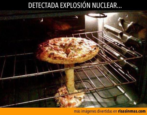 Explosión nuclear en el horno