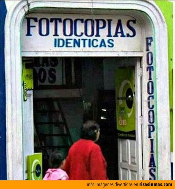 Fotocopias idénticas