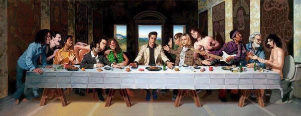 La última cena rock