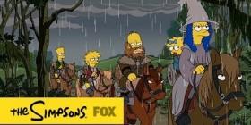 Los Simpson parodiando a el Hobbit
