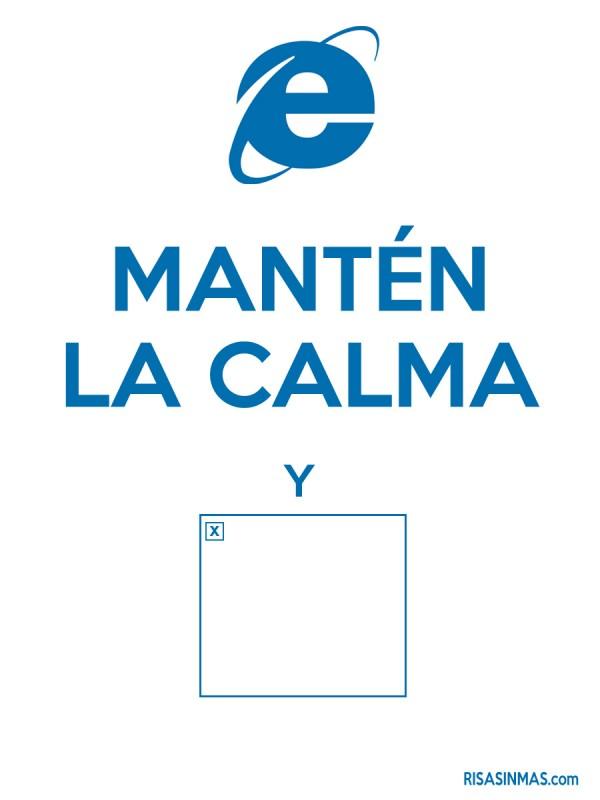 Mantén la calma y