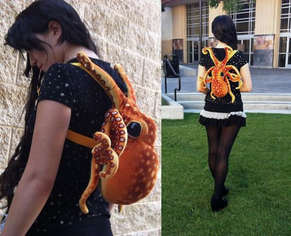 Mochila pulpo, la mochila más original del mundo