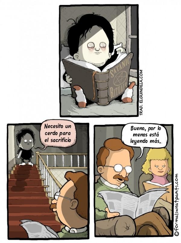 El niño está leyendo más