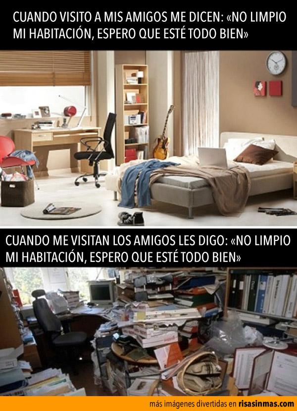 No limpio mi habitación