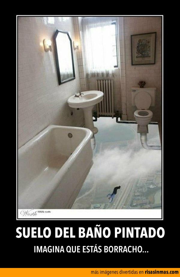 Suelo del baño pintado
