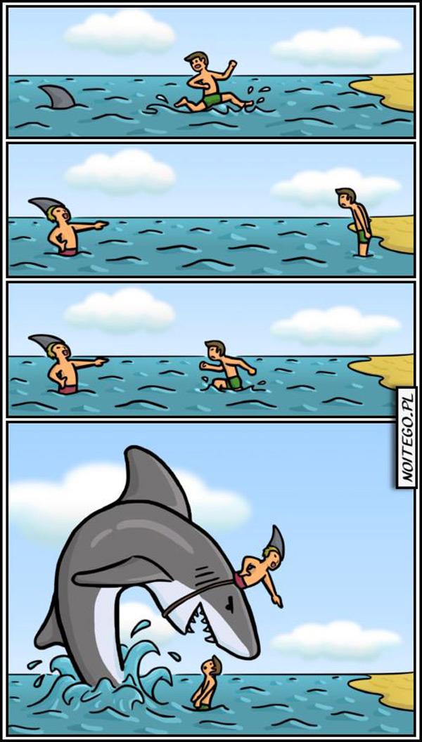 No te fíes nunca de un tiburón