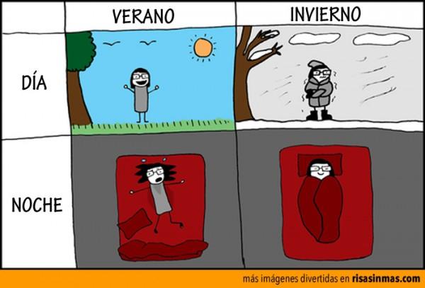 Día y noche de verano e invierno