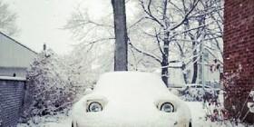 A mi coche le gusta la nieve