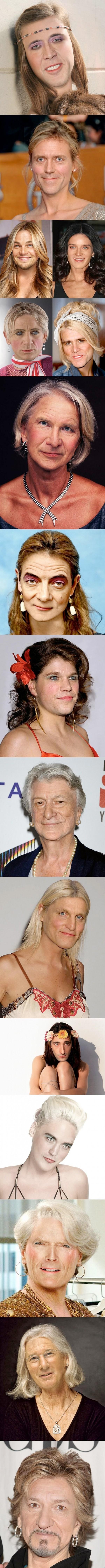 Actores famosos como mujeres