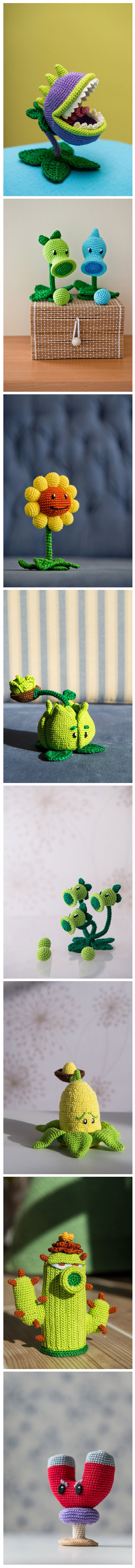 Amigurumis de Plants vs Zombies