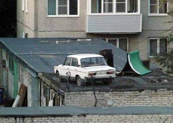 Aparcar el coche nivel Rusia