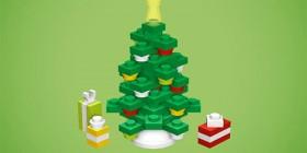Árbol de navidad hecho con LEGO