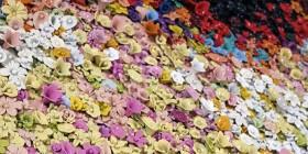 Calavera hecha con flores
