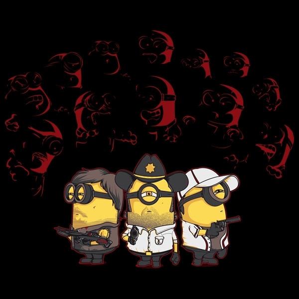 Camiseta Minions The Walking Dead