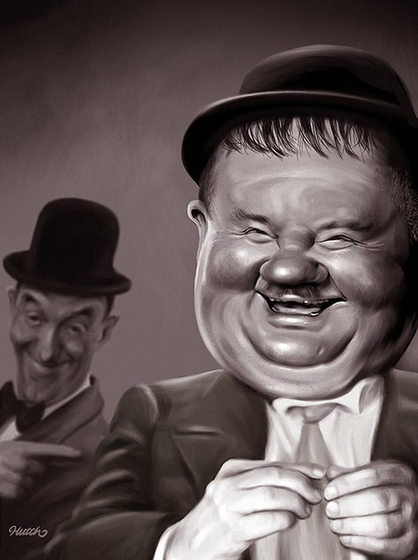 Caricatura El Gordo y el Flaco