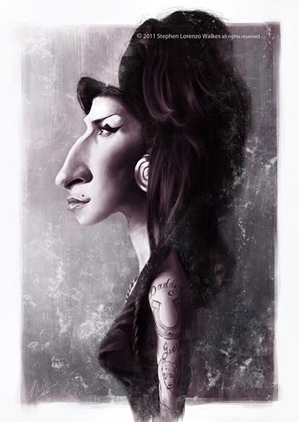 Caricatura de Amy Winehouse