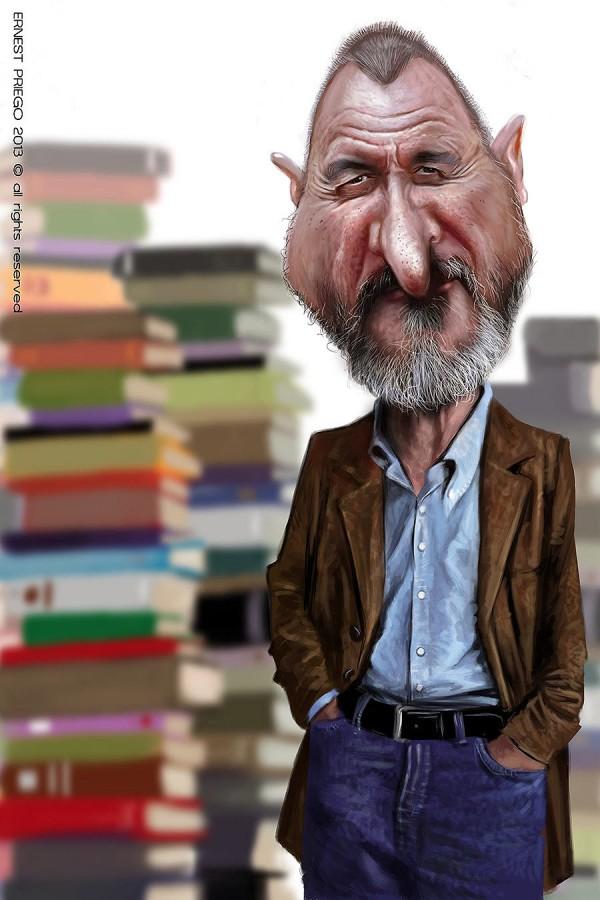 Caricatura de Arturo Pérez-Reverte