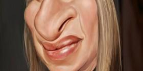 Caricatura de Barbra Streisand
