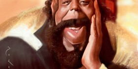 Caricatura de Barry White