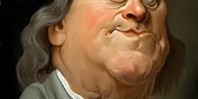 Caricatura de Benjamin Franklin