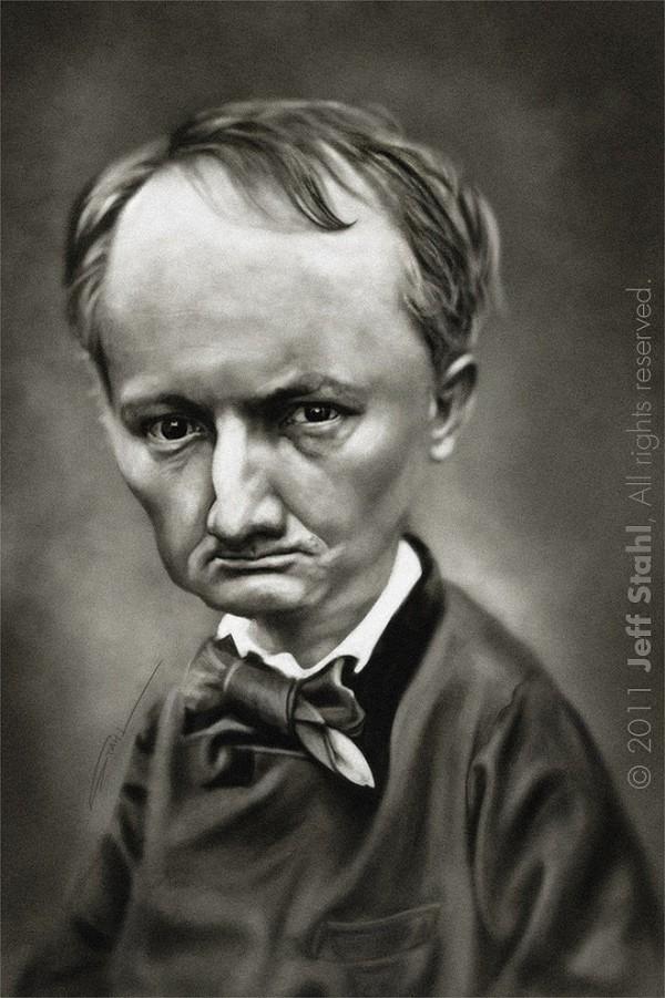 Caricatura de Charles Baudelaire