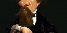 Caricatura de Charles Dickens