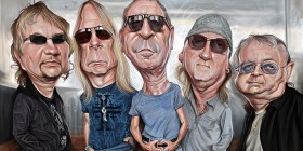 Caricatura de Deep Purple