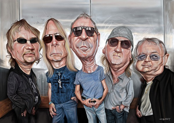 Caricatura de Deep Purple