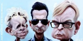 Caricatura de Depeche Mode