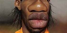 Caricatura de Didier Drogba