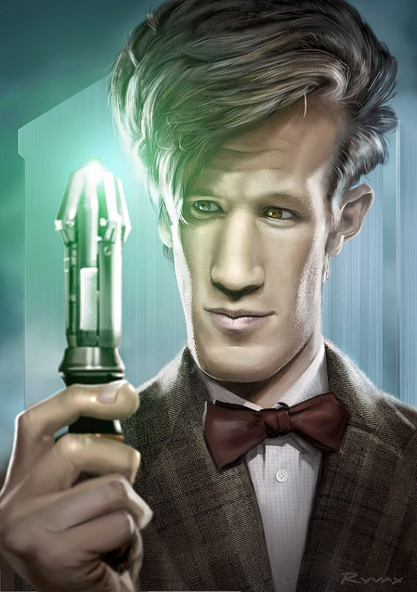 Caricatura de Doctor Who