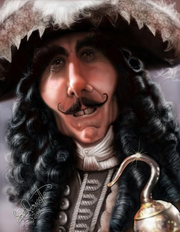 Caricatura de Dustin Hoffman como Hook