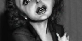 Caricatura de Edith Piaf