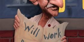 Caricatura de Gandhi