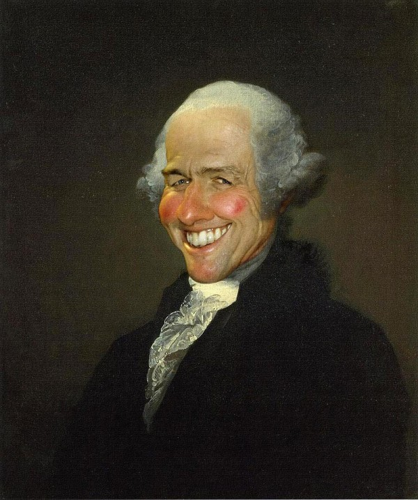 Caricatura de George Washington - Hugh Grant