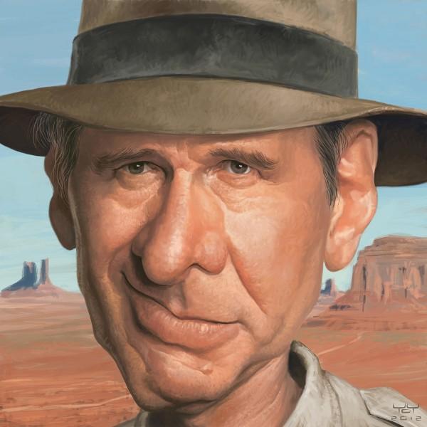Caricatura de Harrison Ford
