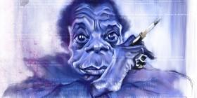 Caricatura de James Baldwin