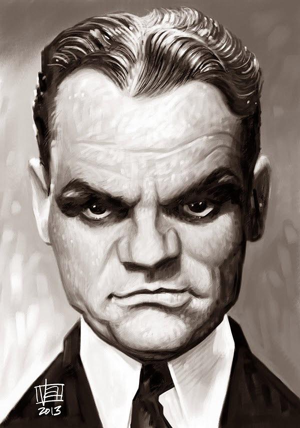 Caricatura de James Cagney