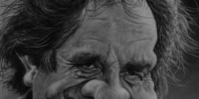 Caricatura de Johnny Cash