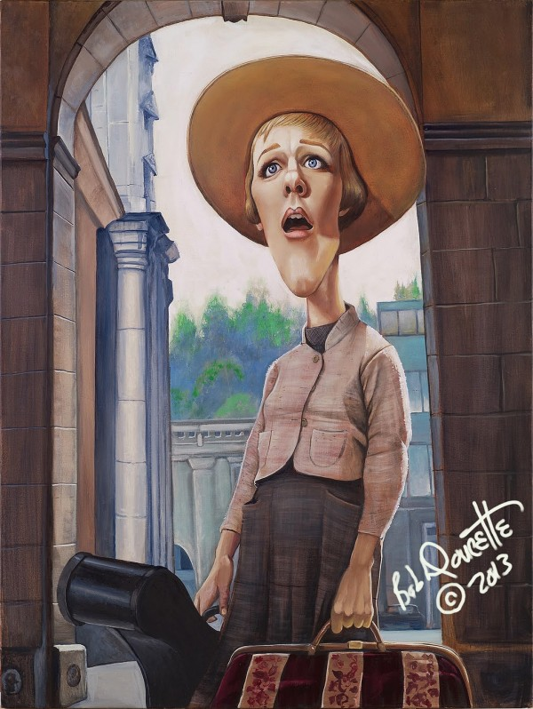Caricatura de Julie Andrews