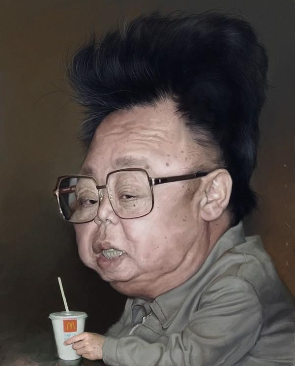 Caricatura de Kim Jong-il