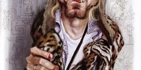 Caricatura de Kurt Cobain