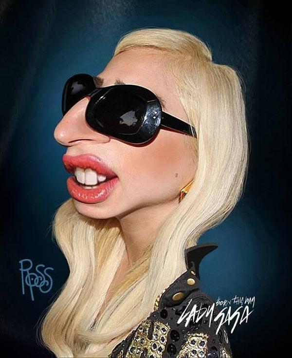 Caricatura de Lady Gaga